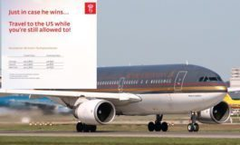 "Royal Jordanian offering last minute cheap flights to U.S. ""in case Trump wins"""