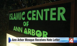 Ann Arbor Mosque receives hate letter from California