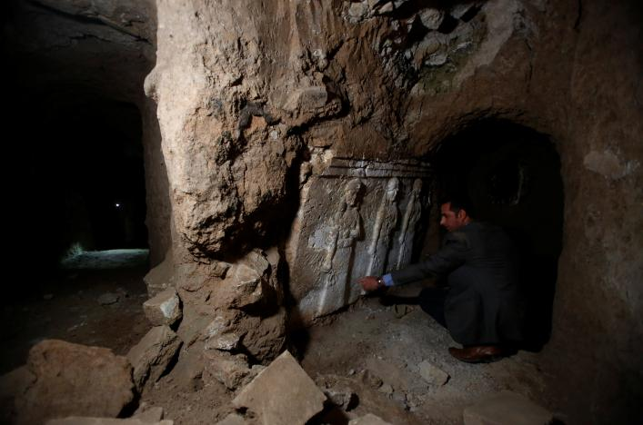 Tunnels under ancient Mosul mosque show ISIS's focus on loot