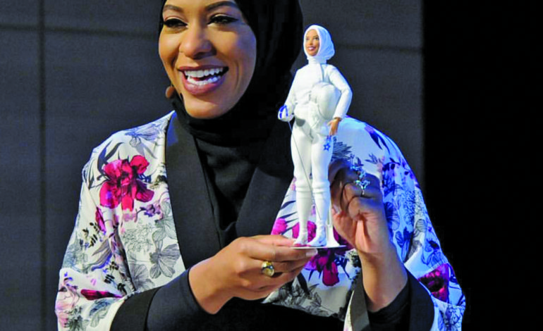 Hijabi Olympic fencer makes history again with namesake Barbie doll