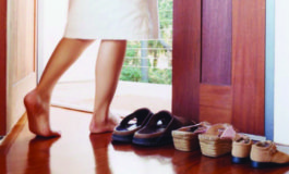 Six reasons to remove your shoes inside your home