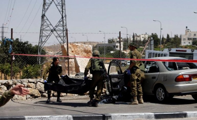 Palestinian driver shot dead after ramming car into Israeli soldiers