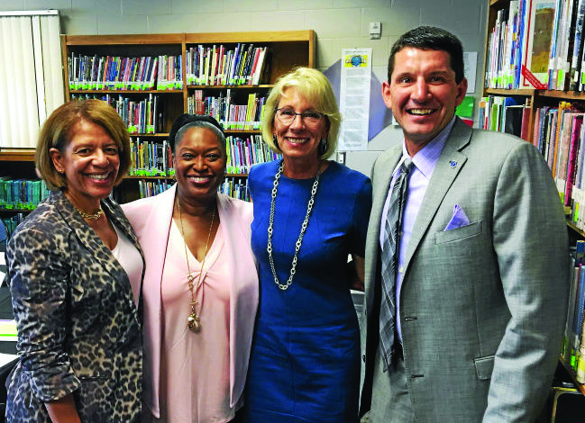 Dearborn Schools Superintendent Glenn Maleyko meets with secretary of education
