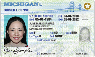 You will need a new Michigan driver's license to fly in 2020