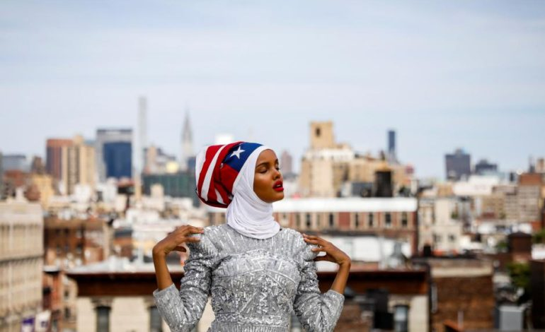 From refugee camp to runway, hijab-wearing model breaks barriers