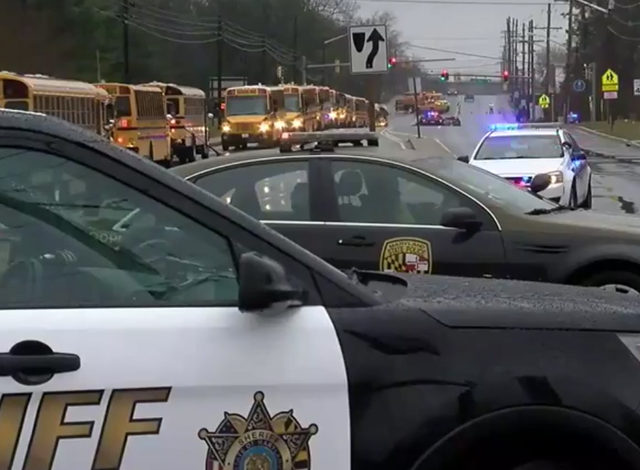 Several shot at Maryland high school, conditions unclear