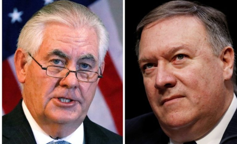 Trump fires State Sec. Tillerson after clashes, taps CIA Director Pompeo