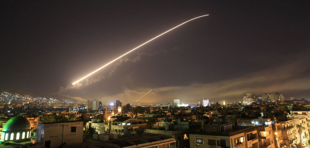 Syrian air defenses shoot down missiles in Homs