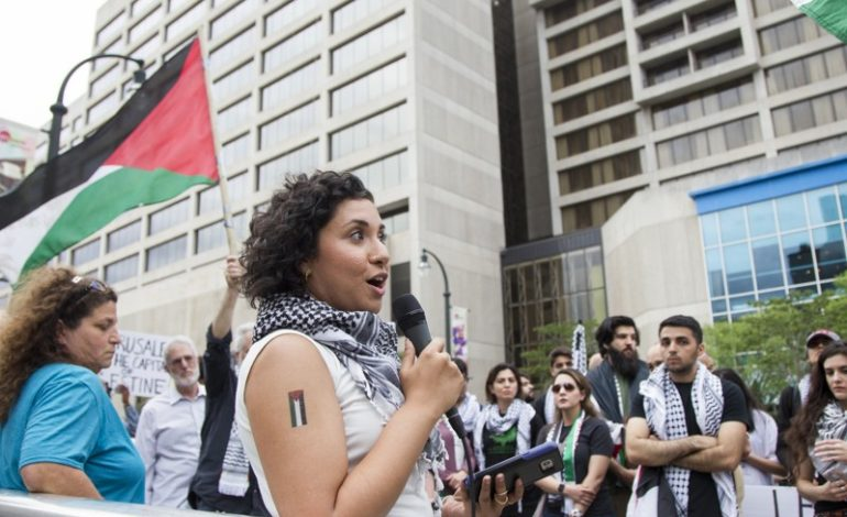 Georgia activists march for Palestinian rights, denounce Israel