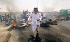 Angry Iraqi protesters at oilfields demanding jobs and basic services