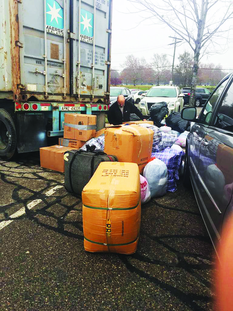 Container of donated winter clothing is headed to Yemen