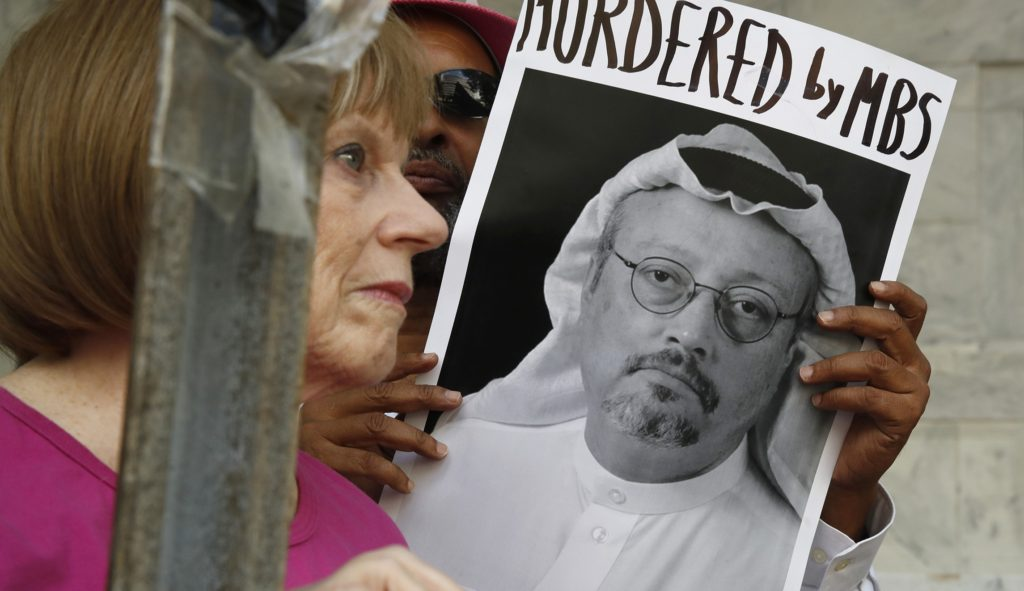 The United States imposed sanctions on 17 Saudi officials, including Saud al-Qahtani, a confidant and senior adviser to powerful Saudi Crown Prince Mohammed bin Salman, in a first round of sanctions related to the murder of Washington Post columnist Jamal Khashoggi.