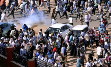 Sudanese security forces use stun grenades to disperse protesters