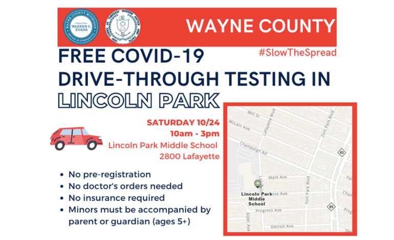 Free COVID-19 testing in Lincoln Park this weekend