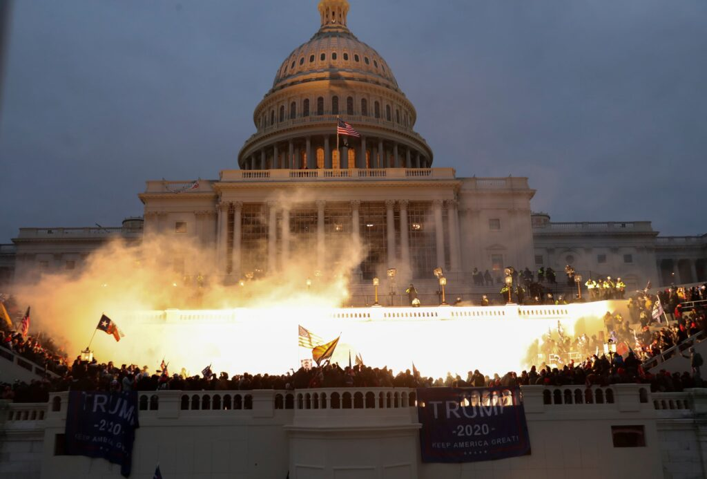 Protests outside the U.S. Capitol