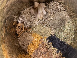 Some of the herbs used in Saad's health remedies