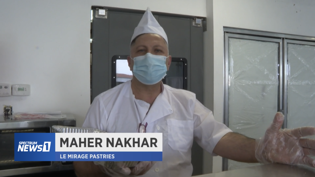 Maher Nakhar is a baker at Le Mirage Pastries in Anaheim, California