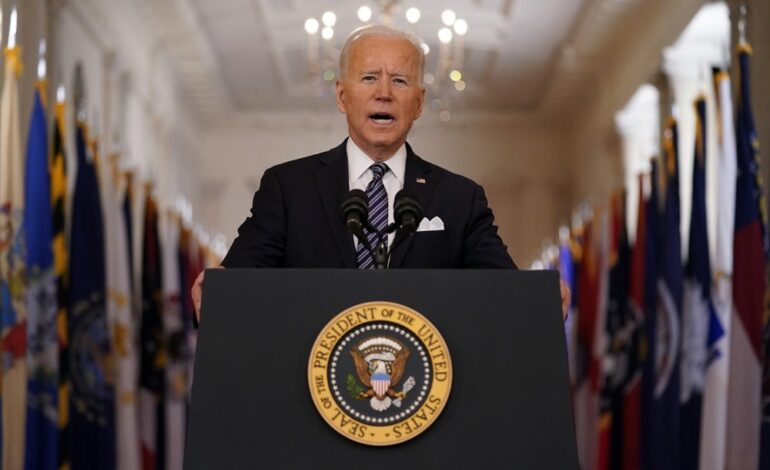 """Biden: """"All American adults will be eligible to get a vaccine no later than May 1"""""""