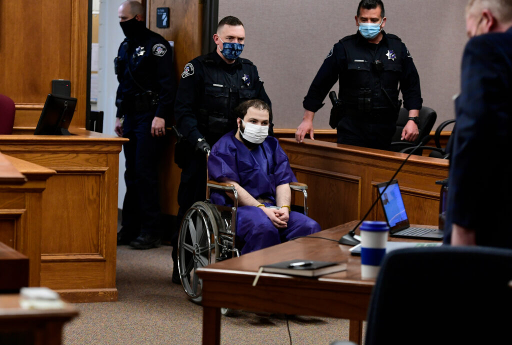 Ahmad Al Aliwi Alissa appeared before a judge in courtroom at the Boulder County Justice Center on March 25. Photo: Helen H. Richardson/The Denver Post