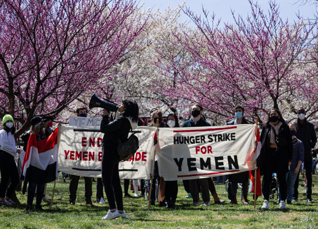 Demonstration at the National Mall in Washington, D.C., April 3