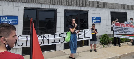 """""""Block the Boat-Detroit"""" protest held at ZIM shipping facility, BDS calls against Israeli company"""