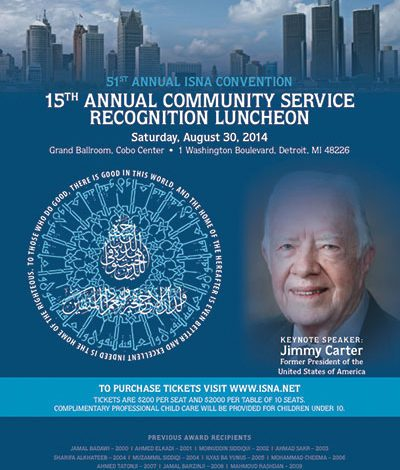 Jimmy Carter to speak at Islamic convention in Detroit
