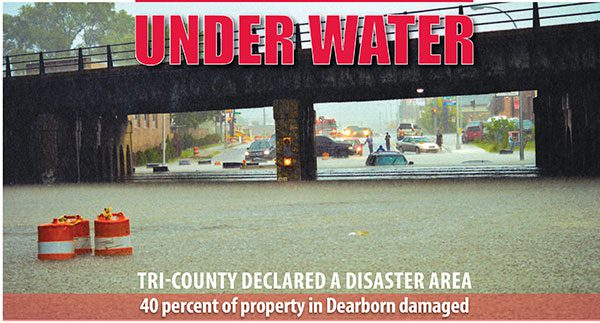 Emergency declared after disastrous floods, 40 percent of property in Dearborn damaged