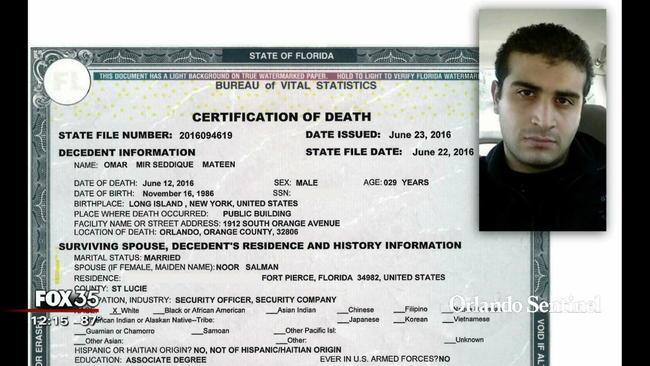 Orlando shooter buried in Muslim cemetery