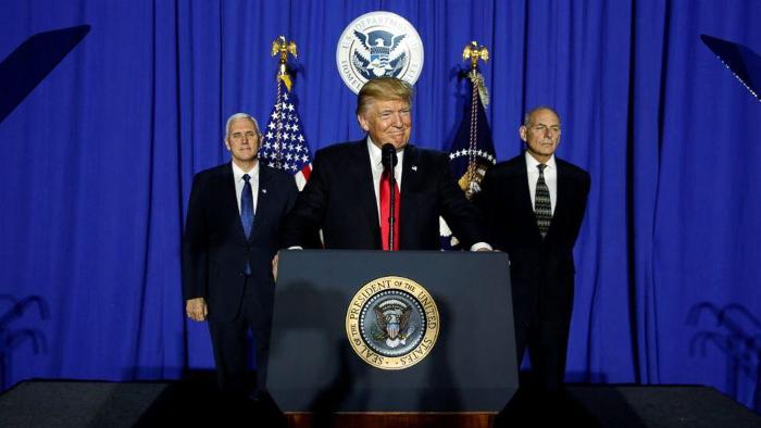 Trump disregards boundaries, bullies neighbors during first week