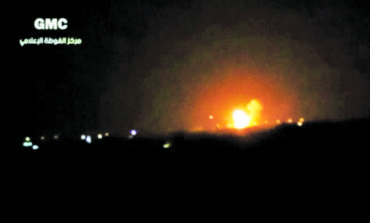 Israel strikes alleged arms depot near Damascus airport