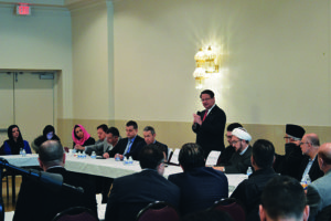 Attendees at the Islamic Center of America