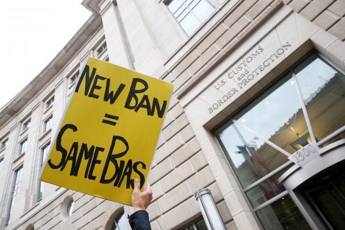 Trump's revised travel ban dealt first court setback