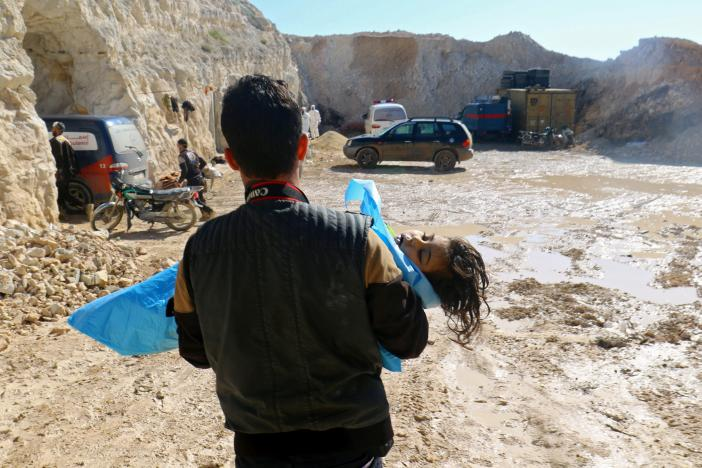 Syrian government denies responsibility in Idlib's chemical attack, blames rebels