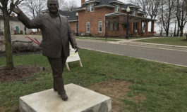 Dearborn's controversial Orville Hubbard statue is back, and so is the debate
