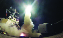U.S. warships strike Syrian airfield in response to Idlib 'chemical attack'