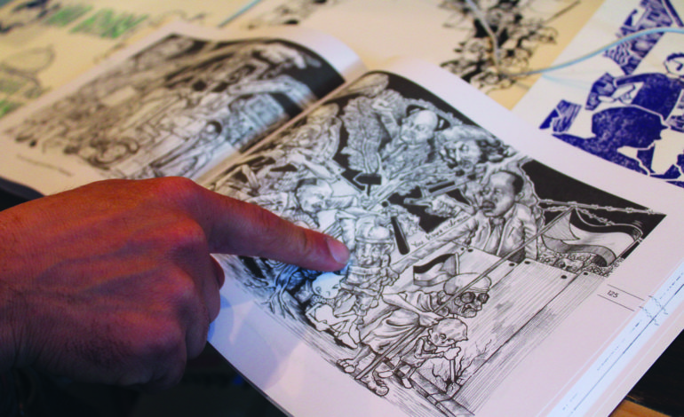 Palestinian cartoonist shares his people's struggle at 'artist talk' in Detroit