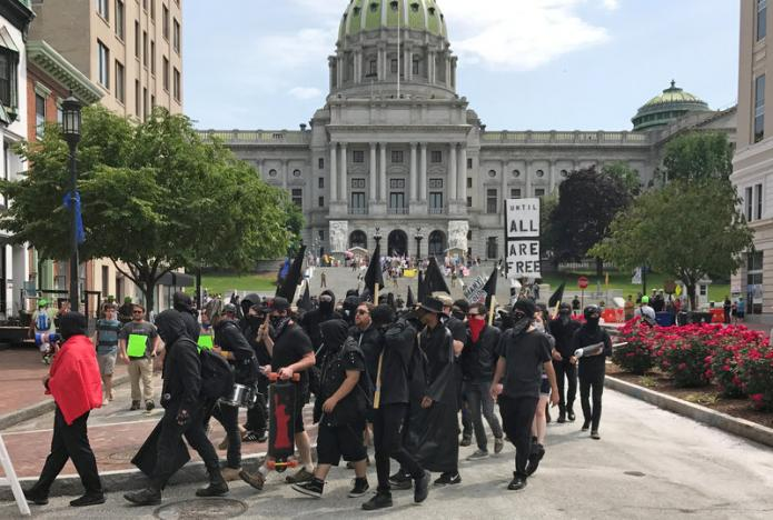 """Protesters rally against """"Sharia Law"""" in dozens of U.S. cities"""