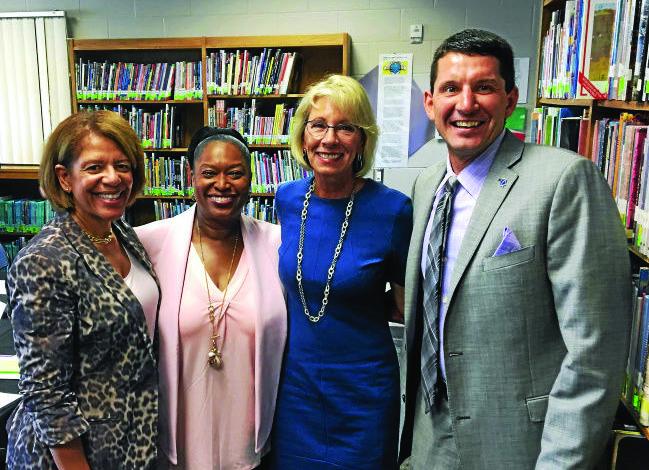 Dearborn Schools Superintendent Glenn Maleyko meets with secretary of education