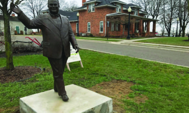 Orville Hubbard statue moved again