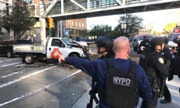 Truck drives through crowd near World Trade Center site, kills 6 and injures 15