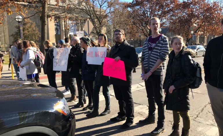 University of Michigan students walk out of class protesting talks with white nationalist