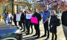 University of Michigan students walk out of class, protesting speech by White nationalist