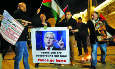 Frustrated Palestinians snub Pence, tell Trump Jerusalem is not for sale