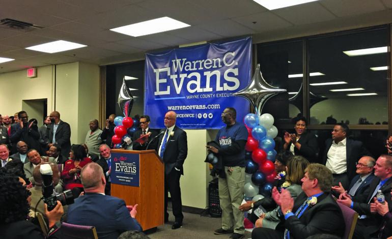 Wayne County Executive Warren Evans announces re-election bid