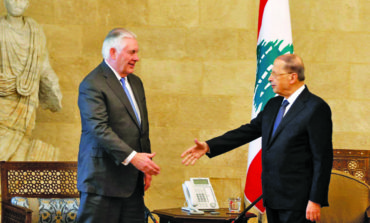 Lebanon rejects Tillerson's border proposal, characterization of Hezbollah