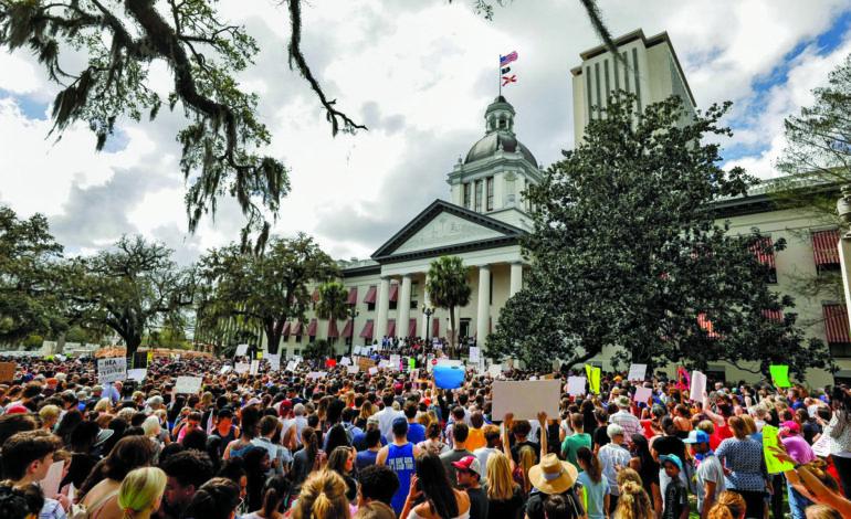 Florida lawmakers pass gun-school safety bill three weeks after massacre