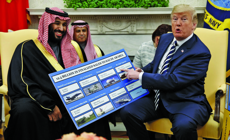 Trump's red-carpet reception for Saudi crown prince: Give us your money!