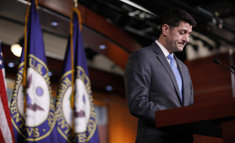 House Speaker Ryan to quit, shaking Republicans as elections near