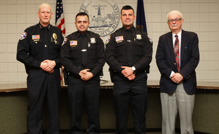 Dearborn Heights swears in two new police officers, one firefighter