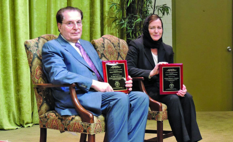 Islamic House of Wisdom honors Barbara McQuade and Dr. Nassib Fawaz